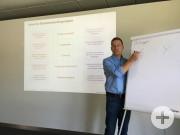 Provokativ und informativ: Prof. Armin Trost diskutiert mit den Netzwerkmitgliedern die Auswirkungen der digitalen Transformation auf Organisation und Personalführung.